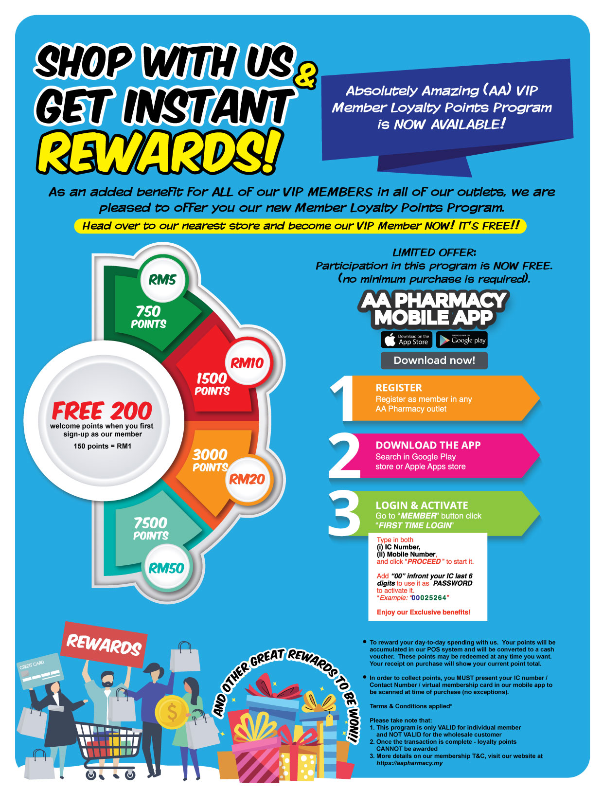 Aa Membership Benefits >> Vip Membership Aa Pharmacy Malaysia