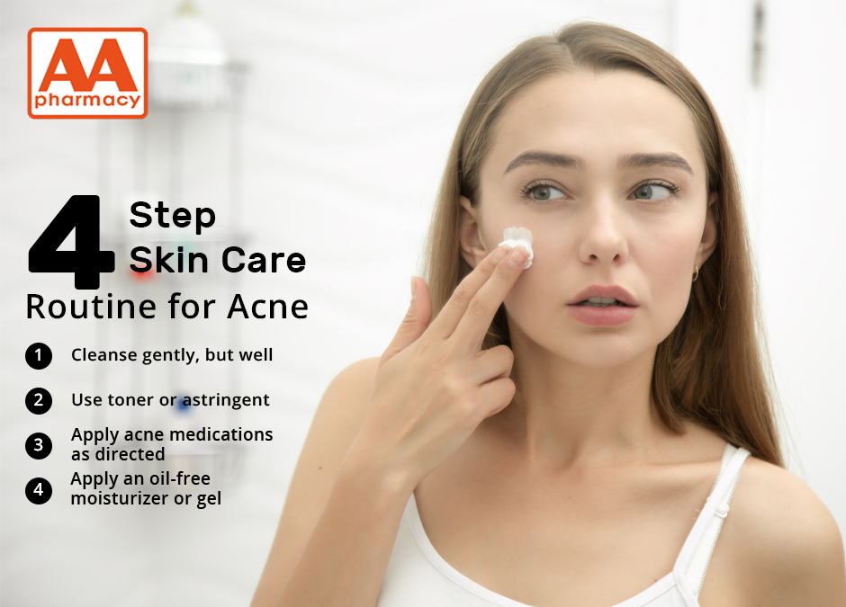 4 Step Skin Care Routine for Acne